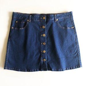 City Chic Mod Denim Mini Skirt Sz 16W